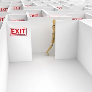 Fire Safety Emergency Plans-Fire Exit Maze Metaphor