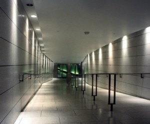 safety lighting in long corridor area