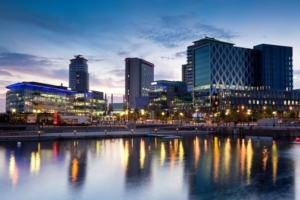 media city on Salford quays